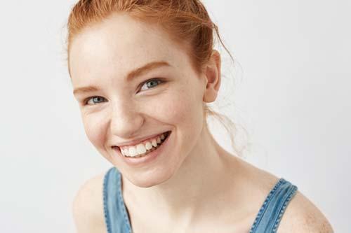 general dentistry red hair woman