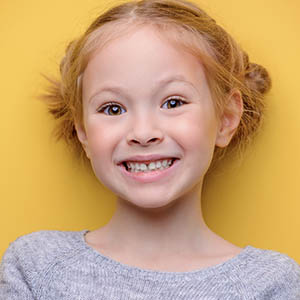 a child who just got services done at lovett dental missouri city
